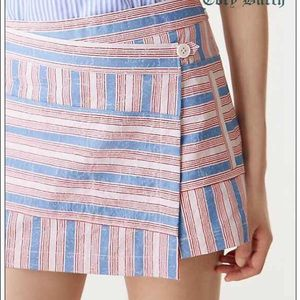 Tory Butch Cato Striped Elena Skirt Sz 14
